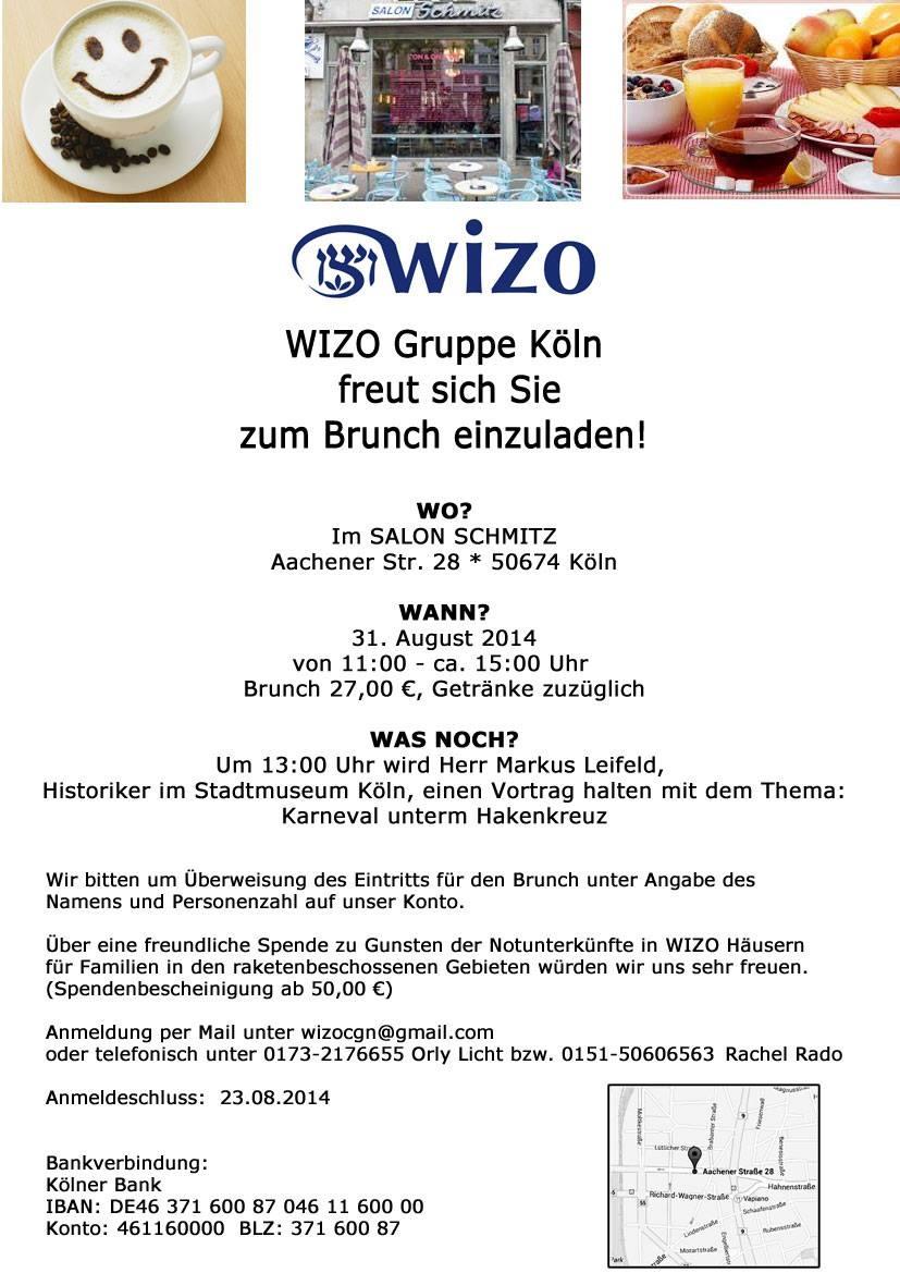 Einladung zum Brunch am 31.08.2014