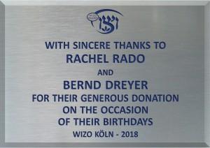 Rachel Rado & Bernd Dreyer 2018
