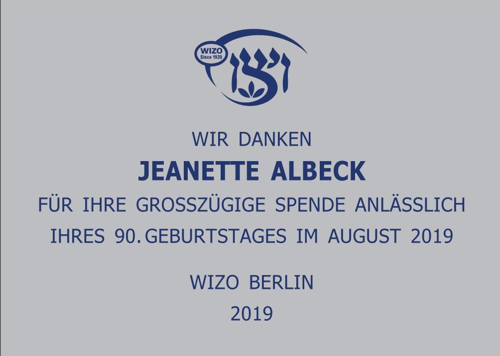 Jeanette Albeck 2019 Herzliah